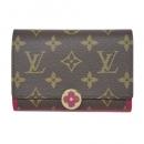 ルイヴィトン M64588 モノグラム ミディアム財布 小銭入れ付き ポルトフォイユ フロール コンパクト フューシャ