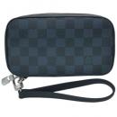ルイヴィトン N63504 ダミエ コバルト メンズ ラウンドファスナー長財布 ストラップ付き ポルトフォイユ ジッピー ソフト