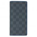 ルイヴィトン N64430 ダミエ グラフィット LV メンズ ファスナー長札 ポルトフォイユ ブラザ ブルー