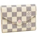 ルイヴィトン 財布 N64022 ダミエアズール ポルトフォイユヴィクトリーヌ レディース 三つ折り財布 ローズバレリーヌ