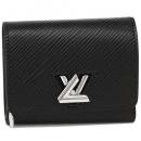 ルイヴィトン M63322 EPI エピ ポルトフォイユツイストコンパクト XS ミニ財布 レディース 二つ折り財布 無地 ノワール 黒
