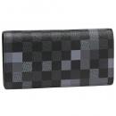 ルイヴィトン 2019春夏新作 N60163 DAMIER GRAPHITE ダミエグラフィット ポルトフォイユブラザ メンズ 長財布 ピクセルキャンバス 黒