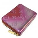 ルイヴィトン M90523 小銭入れ 財布 ジッピーコインパース モングラムヴェルニ グラデーション コインケース パテントレザー ピンク系×レッド レディース