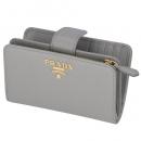 プラダ 2020年春夏新作 財布 二つ折り 折財布 サフィアーノ レディース グレー系 1ML225 QWA 424