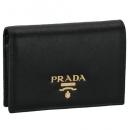 プラダ 財布 レディース 二つ折り サフィアーノ ブラック 1MV021 QWA 002