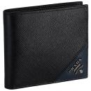 プラダ メンズ 財布 二つ折り 小銭入れ無し サフィアーノ メタル ブラック系 2MO513 QME G52