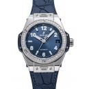 ウブロ ビッグバン ワンクリック スティール ブルー ダイヤモンド 465.SX.7170.RX.1204 ブルー