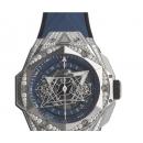 ウブロ ビッグバン ウニコ サンブルー II チタニウム ブルー パヴェ 418.NX.5107.RX.1604.MXM20