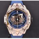 ウブロ ビッグバン ウニコ サンブルー II キングゴールド ブルー パヴェ 418.OX.5108.RX.1604.MXM20