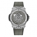 ウブロ ビッグバン ワンクリック サンブルー スチール グレー ダイヤモンド 465.SS.7047.VR.1204.MXM20