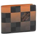 LOUIS VUITTON 折り財布 メンズ ダミエグラフィットジャイアントキャンバス ルイヴィトン N40423 ブラック オレンジ