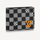 ルイ ヴィトン ポルトフォイユ ブラザ NM(二つ折長財布) ダミエ グラフィット 3D キャンバス アンタークティカ(ライトグレー)N60435