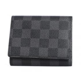 ルイヴィトン LOUIS VUITTON ダミエ グラフィット トリフォルド 三つ折財布【札入れ】 グレー N63096