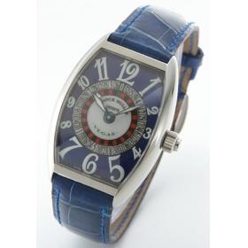 フランクミュラー ヴェガス レザー ブルー ボーイズ 5850 VEGAS