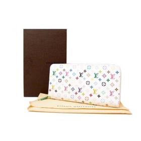 ルイヴィトン ジッピーウォレット モノグラムマルチカラー リッチピンク ホワイト M60241 ラウンドファスナー長財布