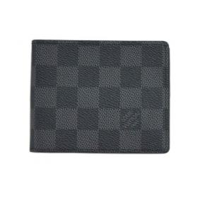 ルイヴィトン 財布 N41623 ダミエ グラフィット メンズ 二つ折り 札入れ マネークリップ ポルトフォイユ パンス