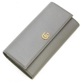 グッチ GUCCI 2つ折り長財布(小銭入れ付き) PETITE MARMONT プチマーモント グレー 456116 CAO0G 1711