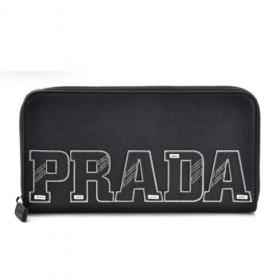 プラダ PRADA ブラック系 メンズ ラウンドファスナー長財布 ブラック系 2ML317 2EC4 002