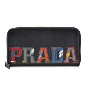 プラダ ブラック系 マルチカラー メンズ ラウンドファスナー長財布 ブラック系 マルチカラー 2ML317 2EC4 SGI
