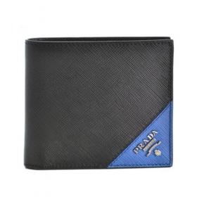 プラダ メンズ 財布 サフィアーノ saffiano 二つ折り財布 ブラック 2MO738 QME 14B