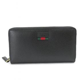 グッチ 長財布 435298 DJ21T 1060 GUCCI 財布 ラウンドファスナー DOLLAR/ドーラー ウェブ レザー ブラック
