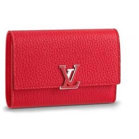ルイヴィトン LOUIS VUITTON 財布 三つ折り ポルトフォイユ カプシーヌ コンパクト M62158