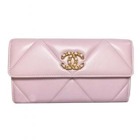 シャネル ロング フラップ ウォレット 長財布 薄ピンク ROSE CLAIR ゴールド金具 AP0955 B04852NC022
